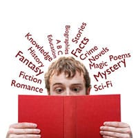 Man using Book Genre Finder