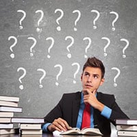 Man wondering what is the genre of a book